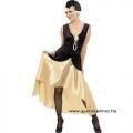 20-as évek - fekete arany ruha
