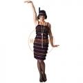 20-as évek - lila flapper ruha