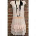 20-as évek - púder színű flapper ruha