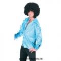 70-es évek Disco star jelmez - kék flitteres ing