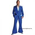 70-es évek férfi jelmez kék öltöny