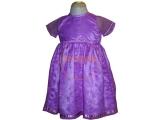 Alkalmi ruha - koszorúslány ruha lila csillagos